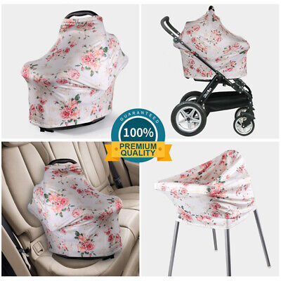 Stretchy Baby Stroller Car Seat Cover Canopy Nursing Breastfeeding Scarf Blanket