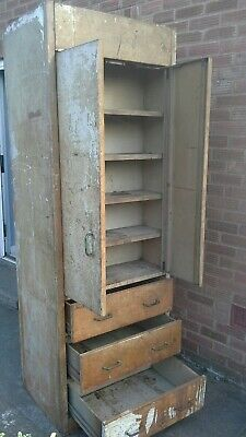 Vintage Unique Industrial shop display storage double sided metal cabinet