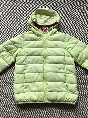 Joules Girls Lime  Kinnard Pack Away Quilted Jacket, Age 6 (5-6)