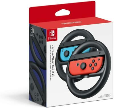 2Pack Nintend Switch Accessories Kit with Steer Wheel Handle for Nintendo Switch