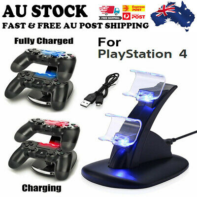 AU for PlayStation PS4 Controller LED Charger Dock Station Fast Charging Stand