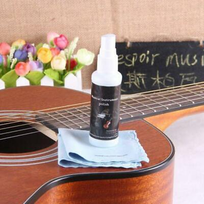 50ml Guitar String Maintenance Cleaner Polish Treated Spray with Cleaning Cloth