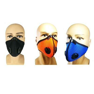 Unisex Respirator Mask Anti Dust Filter Activated Carbon Filtration Half Face v