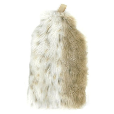 Hot-Water Bottle WARM FURRY natural - with faux fur cover