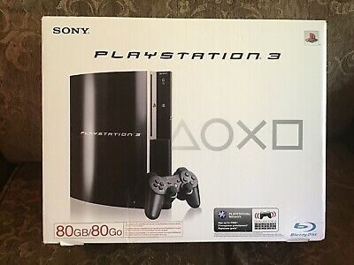 Sony PlayStation 3 80GB Black Console Complete In Box Ps3
