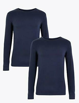Pack of 2 Mens Famous Make Long Sleeved Thermal Tops S M L XL