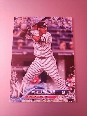 2018 Topps Holiday Rookie Card Walmart Exclusive Yankees Miguel Andujar #Hmw14