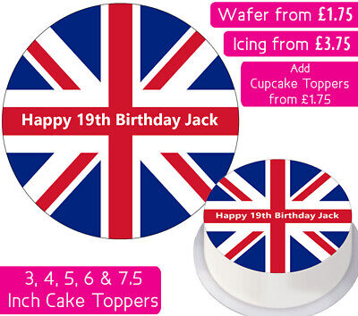 Union Jack Fairy Buns Cup Cake Cases Pk of 50 Great Britain Flags Design 994921