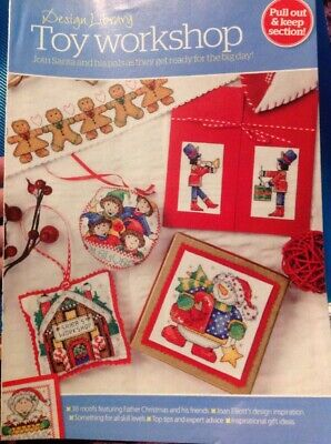36 Joan Elliott Toy Workshop Designs Cards Gifts Christmas Cross Stitch Chart
