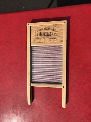 National Washboard Co. no. 863. The Glass King. Lingerie Washboard.