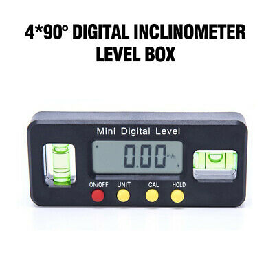 4*90° Magnet Digital Inclinometer Level Box Protractor Angle Finder Bevel Gauge