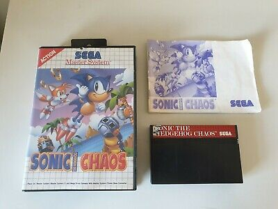 SONIC THE HEDGEHOG CHAOS. MASTER SYSTEM GAME. (Sega Master System. PAL)