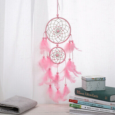 Pink Dream Catcher/ Girls Dreamlike Feather Dreamcatcher Wall Hanging Home Decor