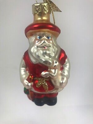 Thomas Pacconi Christmas Ornament Blown Glass Santa I41
