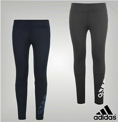 Girls Adidas Stretch Soft Climalite Technology Long Tights Sizes from 7 to 13