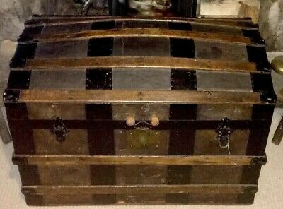 Antique Storage Trunk  Travelling Chest