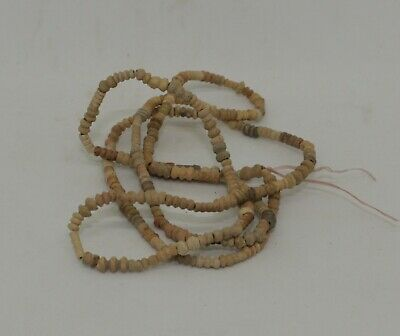 Ancient Egyptian Carved Bead Necklace 1300Bc