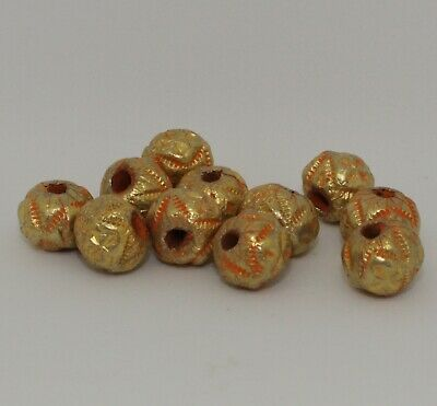 10 X Post Medieval Gold Beads - 0111