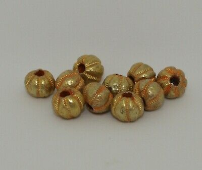 10 X Post Medieval Gold Beads - 0222