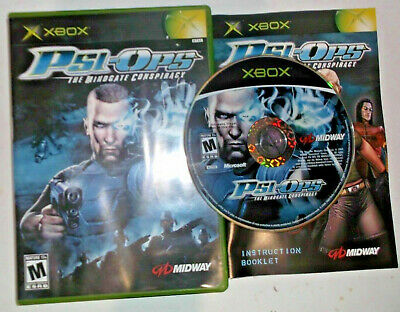 Psi Ops The Mindgate Conspiracy Microsoft Xbox Complete CIB PERFECT Disc!!!