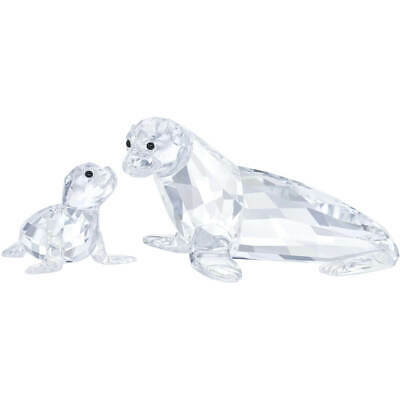 Swarovski Crystal Sea Lion Mother with Baby 5275796 *NEW IN BOX*