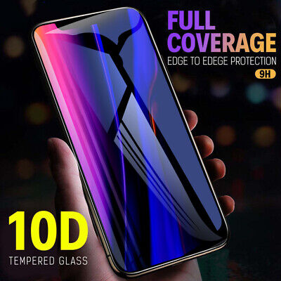 For iPhone 11 Pro Max 2019 10D Full Cover Tempered Glass Screen Protector Film