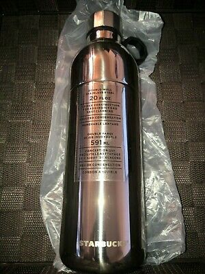 NEW Starbucks Water Bottle Silver Double Wall Stainless Steel 20 Oz