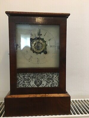 Antique American Mantle Alarm Clock VGC