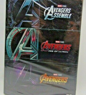 AVENGERS 1-3 DVD Film Trilogy Collection Assemble, Age of Ultron, Infinity War