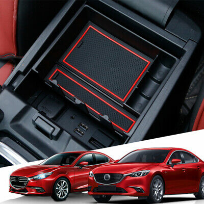 Interior Auto Central Front Storage Armrest Tray Box For Mazda 6 Atenza 2013-17