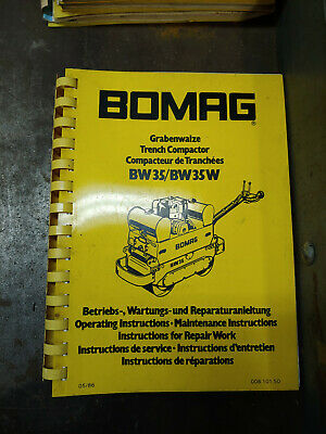 Bomag Bw35/Bw35W Operating/Maintenance Instructions Repair Instructions 00810150