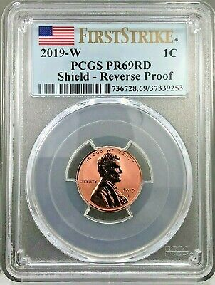 2019 W Reverse Proof Lincoln Penny (CENT) ~ PCGS PR69RD FIRST STRIKE~~FLAG LABEL