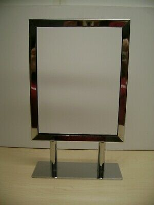 Metal Chrome Retail Tabletop Sign Holders 14 X 11 Set 6