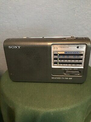 Sony AM FM Weather TV Radio ICF-36 Portable Tested Great Working Condition