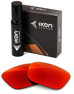 Polarized IKON Replacement Lenses For Electric Knoxville XL +Red Mirror