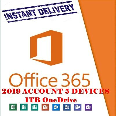 Instant microsoft office 365 Pro, lifetime account 5 devices 1tb WINDOWS MOBILE!