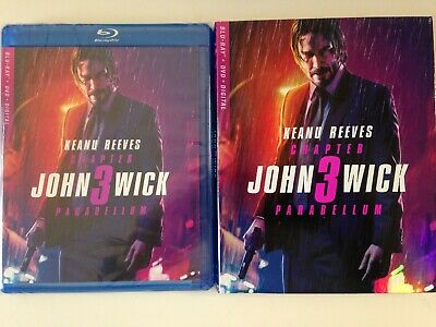 John Wick Chapter 3 Parabellum Blu-ray Movie (NEW) Keanu Reeves