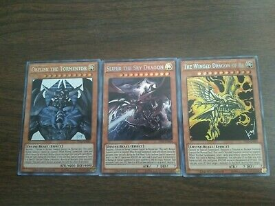 TN19 Egyptian God Trio Prismatic Secret Rare Limited Ed NM Obelisk Slifer Ra