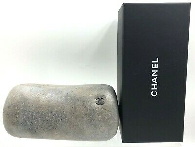 CHANEL Glasses sunglasses Case Spectacle Empty Black BOX Logo Cleaning Cloth