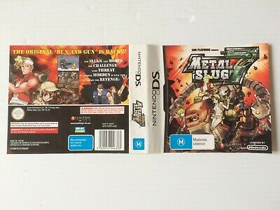 Metal Slug 7 Cover Slip ONLY!!
