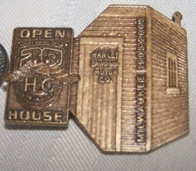 LAPEL Vest OR HAT PIN** Harley Davidson Open House-Milwaukee 1903-2003 TIE