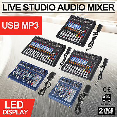 4/6/7/8/12 Channels Audio Mixer Console Mic/Line Optimized Ultra-compact K song