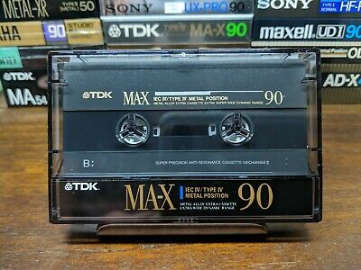 TDK MA-X 90 Metal compact cassette used tape Type IV As new never been recorded.