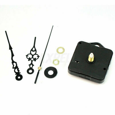 1Set Quartz Wall Clock Machine Parts Black DIY Repair Replacement Supply
