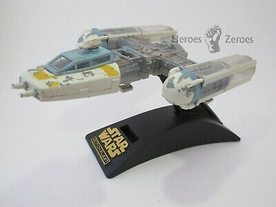 Star Wars Micro Machines Action Fleet Y-WING Gold Leader Starship with Stand