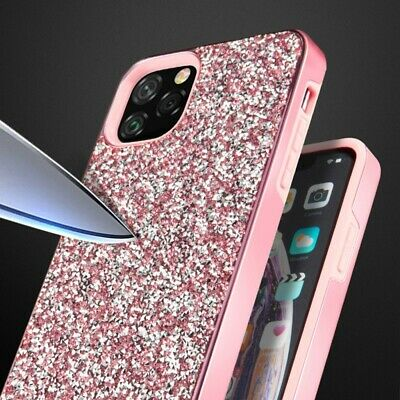 For iPhone 11 Pro Max Slim Hybrid Case Bling Glitter PC Hard Protective Shell