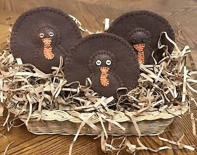 Primitive Turkeys. Thanksgiving Ornies. Bowl Fillers