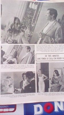 Clipping Recorte Jane Fonda Roger Vadim