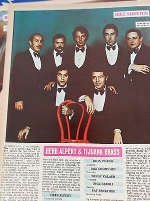 CLIPPING FICHA CONJUNTOS MUSICALES herb alpert and tijuana brass