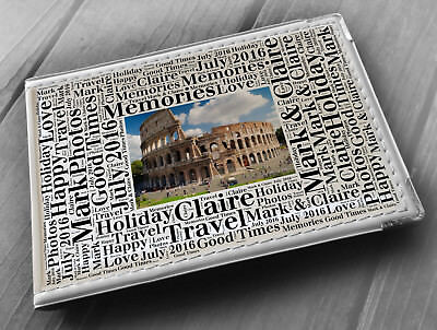 """Personalised photo album, memory book, 6x4"""" photos, Rome Italy holiday gift"""